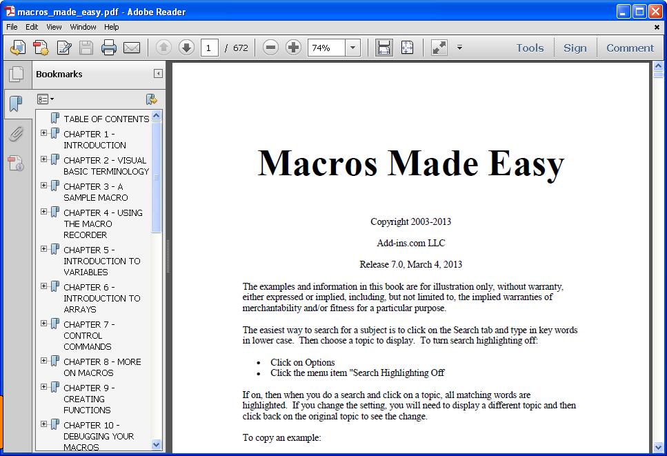 how to write macros