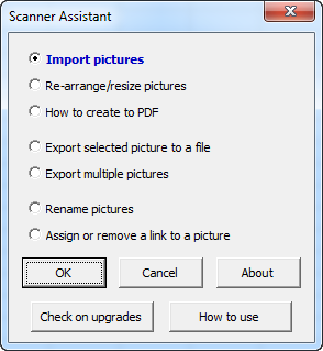 Scanner Assistant for Microsoft Excel