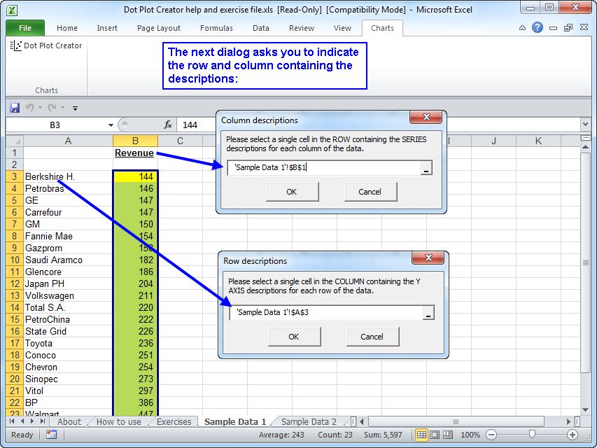 Dot Plot Creator For Microsoft Excel