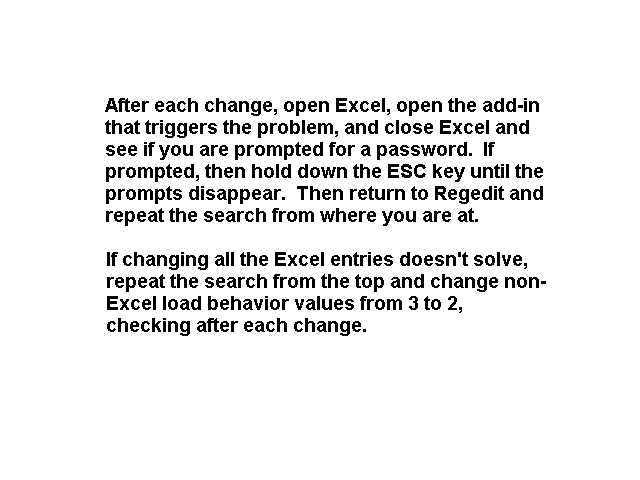 How to fix multiple password prompts when Excel closes